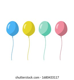 Balloons icon isolated on white background. Vector illustration