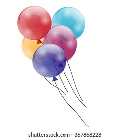 Balloons isolated icon on white background