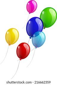 Balloons, multicolored illustration