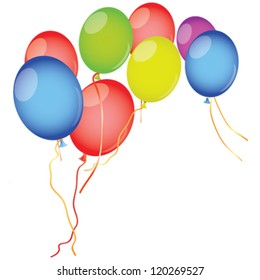 Balloons on a white background. Place for your text.