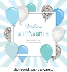 Square Baby Shower Invitation Images Stock Photos Vectors Shutterstock