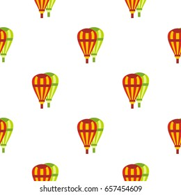 Balloons pattern seamless background in flat style repeat vector illustration