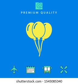 Balloons symbol icon. Graphic elements for your design