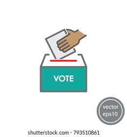 ballot box icon vector