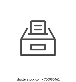 Ballot box line icon