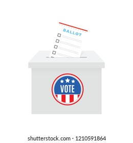 Ballot Box Voting Paper Vector Illustration Background