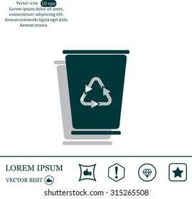 ballot box web icon. vector design