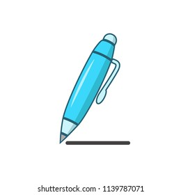 ballpoint - stationery icon vector