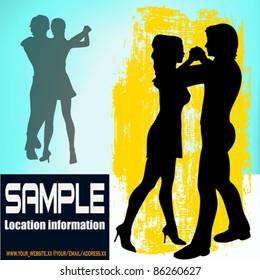 Ballroom Dance vector flyer, for an event or Dance School