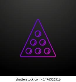 Balls for billiards outline nolan icon. Elements of sport set. Simple icon for websites, web design, mobile app, info graphics