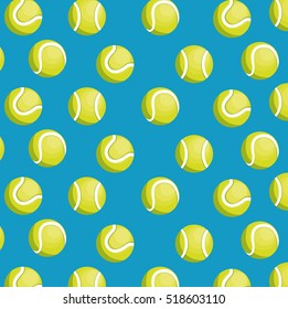 balls tennis seamless pattern design