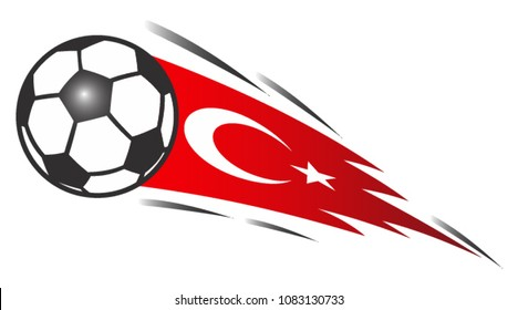 Balls with an Turkey flag background