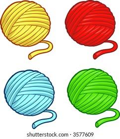 Balls of yarn Vector Illustration
