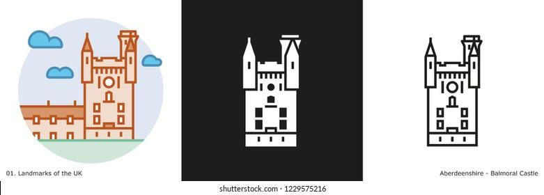 Balmoral Castle Icon - Aberdeenshire, Scotland