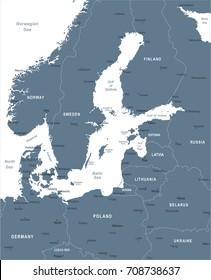 Baltic Sea Map Images, Stock Photos & Vectors | Shutterstock