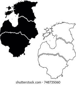 Baltic states map (Lithuania, Latvia, Estonia)