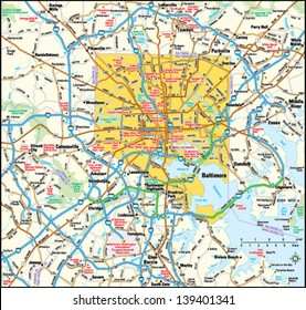 Baltimore, Maryland area map