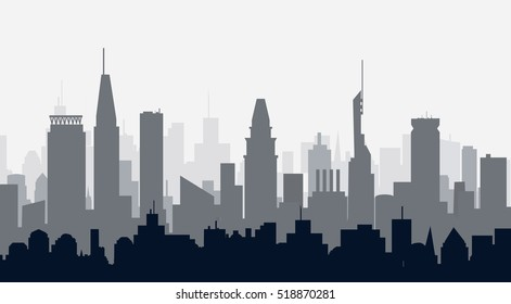 Baltimore Maryland City Skyline - vector