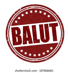 Balut grunge rubber stamp on white, vector illustration