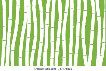 Bamboo. Abstract Pattern. Bamboo Pattern for Postcard, Banner, Wallpaper, Textile, Fabric, Packaging Paper. Bamboo Background. Tree Texture in Asian Style. Abstract Bamboo Background. Illustration.