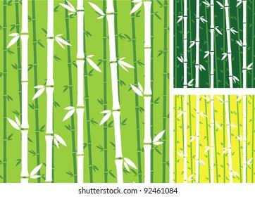 bamboo green pattern vector plant seamless stock vector royalty