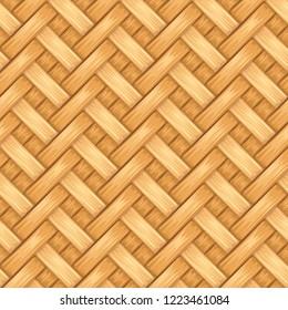 bamboo basket pattern texture design vector illustration