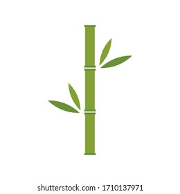 Bamboo brunch vector stock illustration isolated on white background