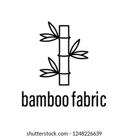 bamboo fabric icon. Element of raw material with description icon for mobile concept and web apps. Outline bamboo fabric icon can be used for web and mobile