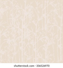 Bamboo forest background pattern. Vector illustration