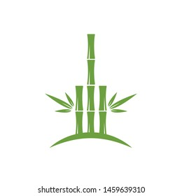 Bamboo with green leaf for your logo icon vector template