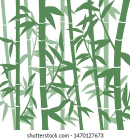 Bamboo grove for the background, symbolizes a clean planet. EPS-10