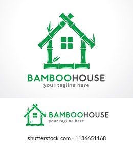 Bamboo House Logo Template Design, Symbol, Icon