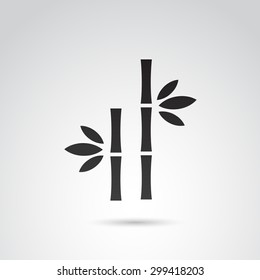 Bamboo icon isolated on white background. Vector art.