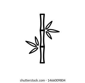 Bamboo icon ,leaf nature icon illustration