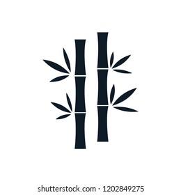 Bamboo icon nature vector logo template