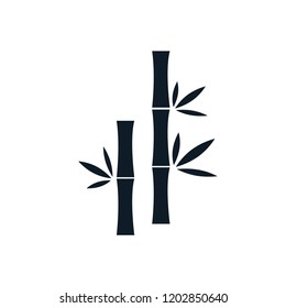 Bamboo icon nature vector logo template