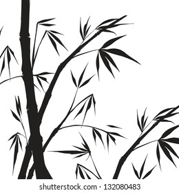 Bamboo isolated illustration. Vector illustration, contains transparencies, gradients and effects.