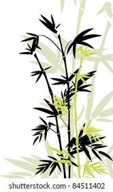 Bamboo leaves for design