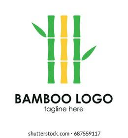 Bamboo logo concept.