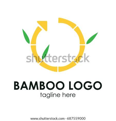 bamboo logo concept business logo