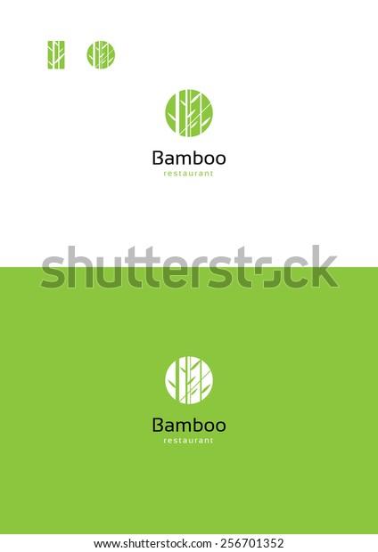 Bamboo logo teamplate.