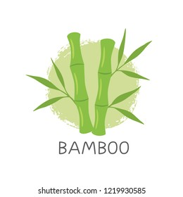 Bamboo Logo Template Design Vector, Emblem, Concept Design, Creative Symbol, Icon. Vector illustration on white isolated background