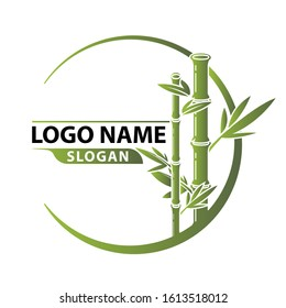 Bamboo Logo Template vector. Concept for spa and beauty salon, asian massage, cosmetics package, furniture materials.