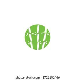 Bamboo logo vector icon illustration design