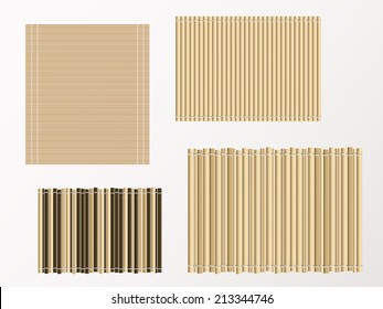bamboo mat texture and background. vector illustration.