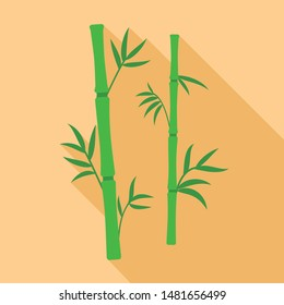 Bamboo plant icon. Flat illustration of bamboo plant vector icon for web design