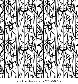 Bamboo seamless pattern design in black and white