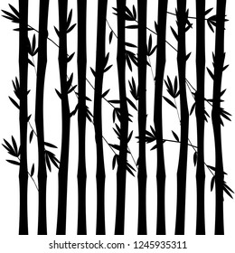 Bamboo seamless pattern isolated on white background. Vector illustration.