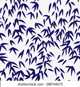 Bamboo seamless pattern, Japanese / Chinese hand drawn style , natural background, vector illustration