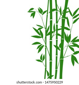 bamboo stems and leaves for graphic design. EPS-10